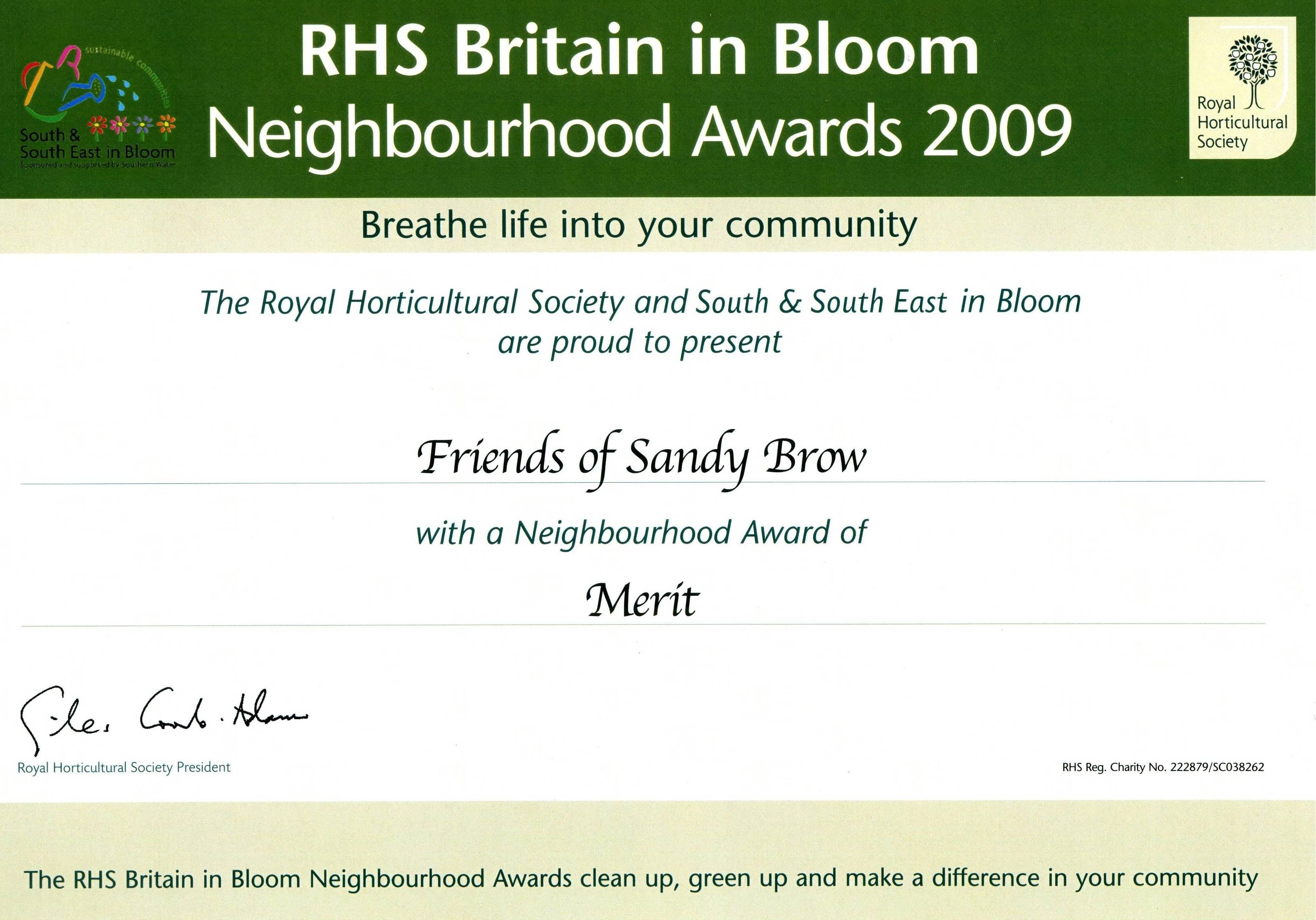 friends-of-sandy-brow-merit-cert-2009